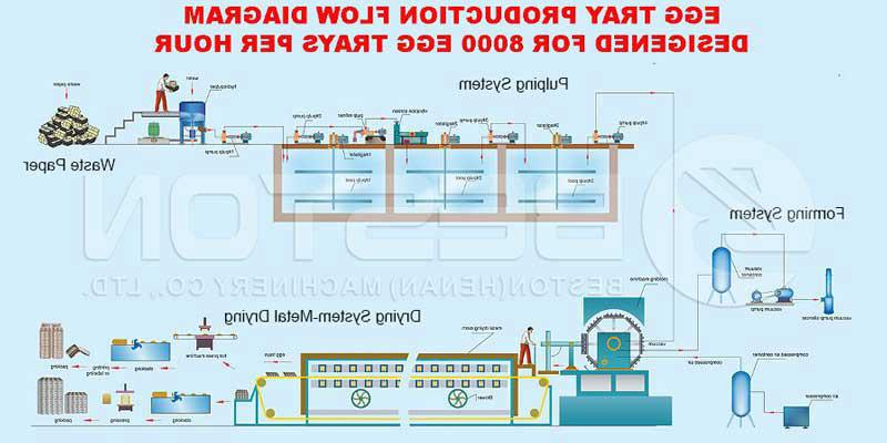 Automatic egg dish manufacturing process